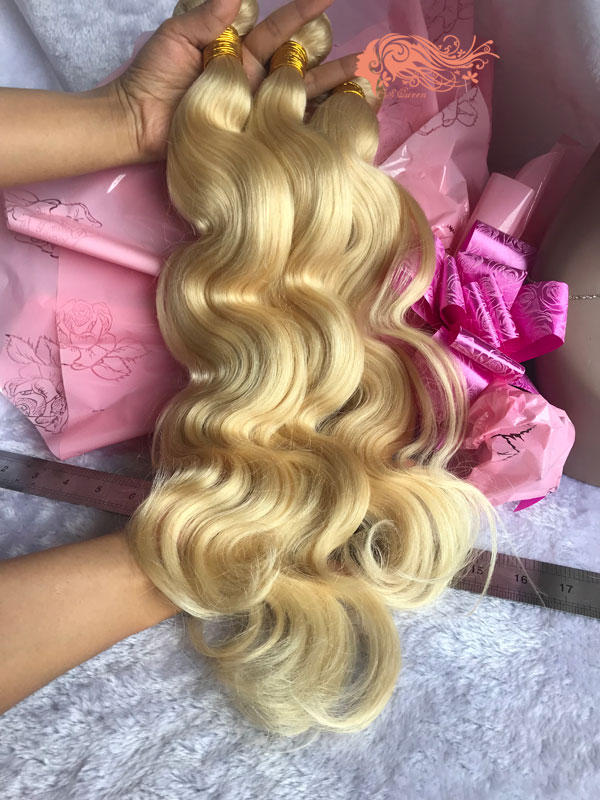 Csqueen 9A 613 Blonde Body wave Human Hair Bundles Unprocessed Hair