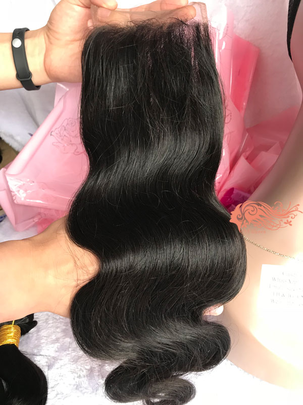 Csqueen 7A Body Wave Hair Weave 3 Bundles with closure Unprocessed Human Hair