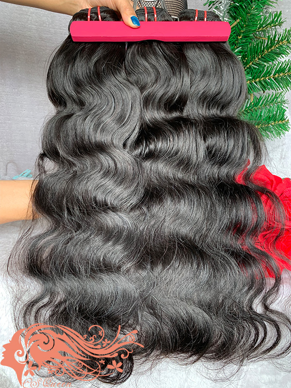 Csqueen 7A Body Wave Hair Weave 6 Bundles Unprocessed Human Hair
