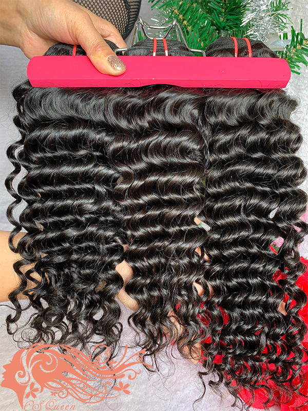 Csqueen 7A Deep Wave 16 Bundles 100% Human Hair Unprocessed Natural Hair