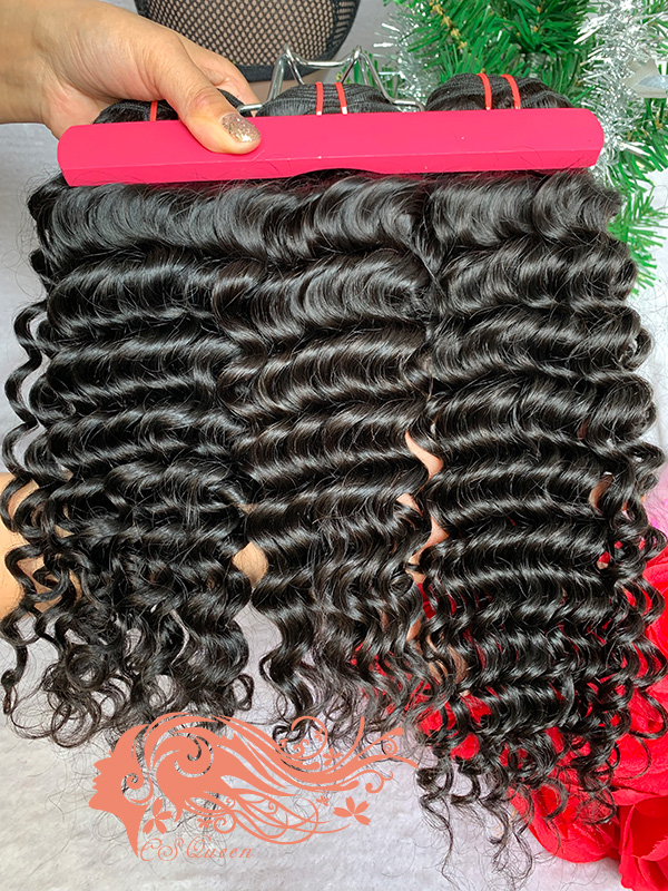 Csqueen 7A Italian Wave 16 Bundles Natural Black Color 100% Human Hair