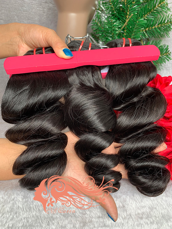 Csqueen 7A Loose Wave 14 Bundles Unprocessed Human Hair