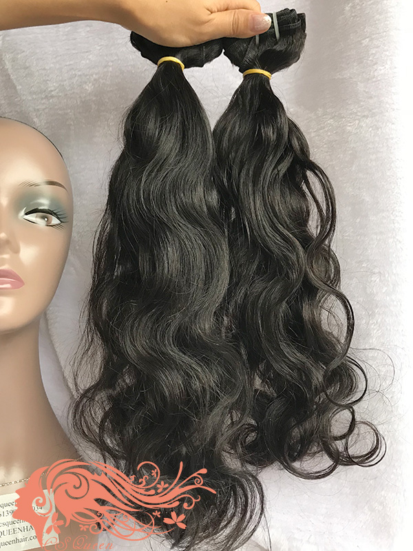 Csqueen 7A Ocean Wave 14 Bundles Natural Black Color 100% Human Hair