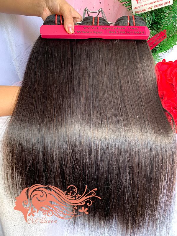 Csqueen 7A Straight Hair 14 Bundles Natural Black Color Straight Hair