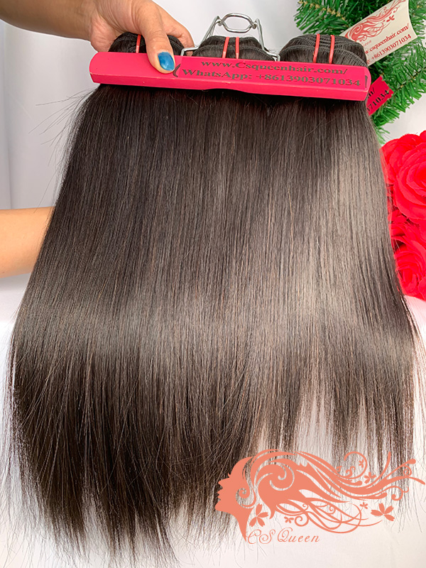 Csqueen 7A Straight Hair 5 Bundles Natural Black Color Straight Hair
