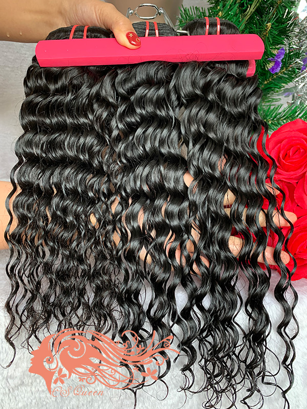 Csqueen 7A Water Wave 14 Bundles Unprocessed Human Hair