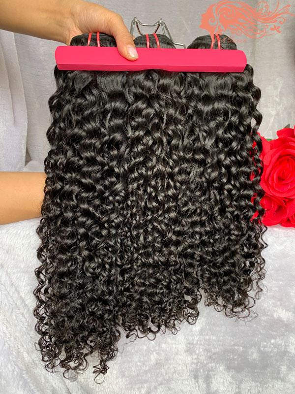 Csqueen 8A Exotic Wave 3 Bundles Natural Black Color 100% Human Hair