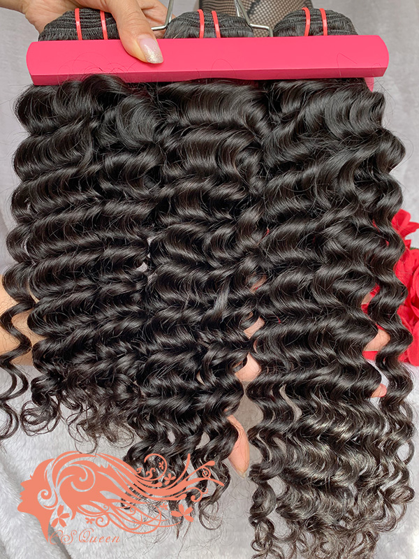 Csqueen 8A Deep Wave 8 Bundles 100% Human Hair Unprocessed Natural Hair
