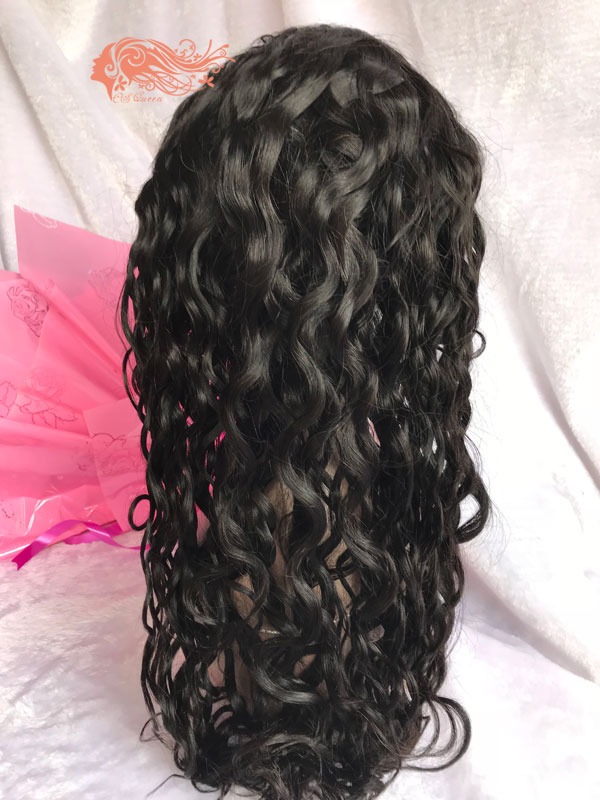 Csqueen 8A French Curly Full lace WIG 100% Virgin Hair human hair 150%density