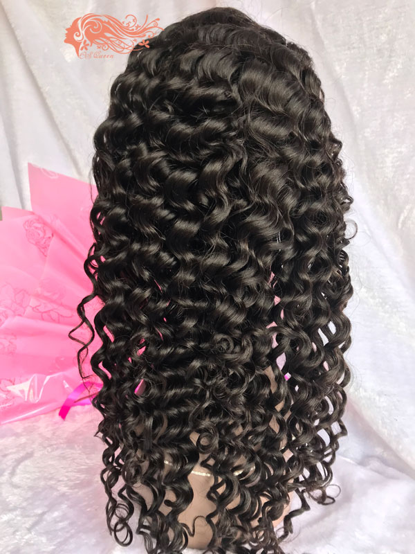 Csqueen 8A Italian Wave Full lace WIG 100% Virgin Human Hair 150%density