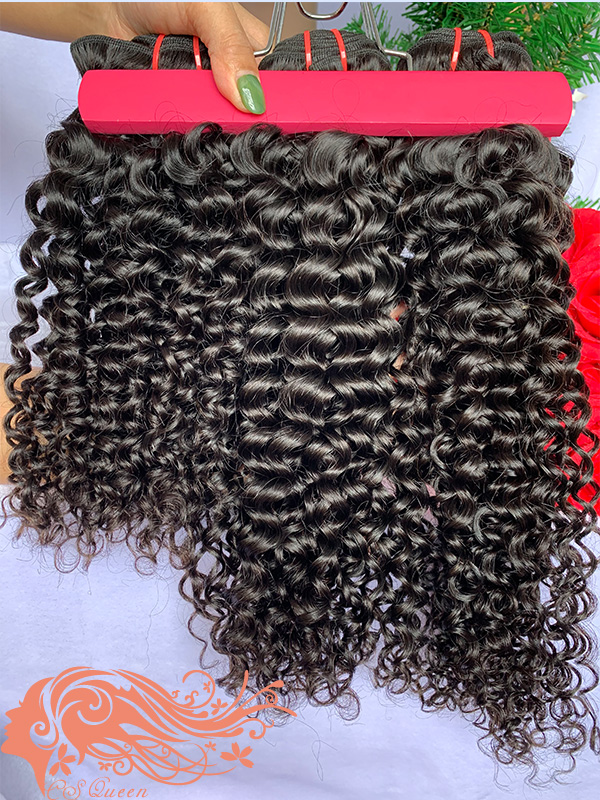 Csqueen 8A Jerry Curly 5 Bundles 100% Human Hair Unprocessed Hair