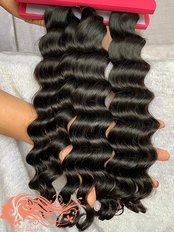 Csqueen 8A Loose Curly 10 Bundles Virgin Hair 100% Unprocessed Human Hair