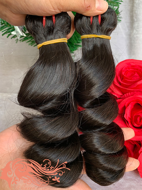 Csqueen 8A Loose Wave 4 Bundles Unprocessed Human Hair
