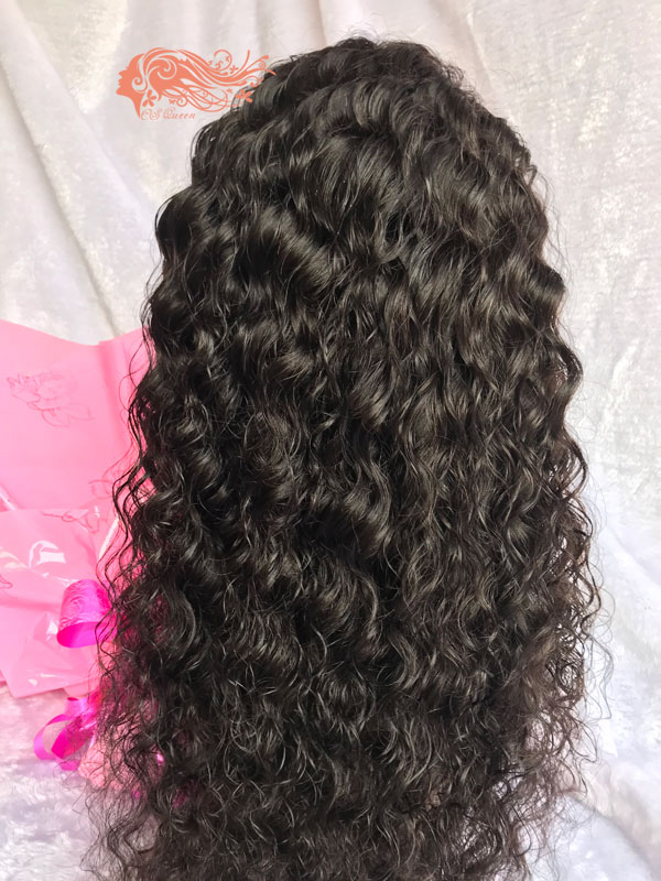 Csqueen 8A Water Wave Frontal WIG 100% Virgin Hair 150%density
