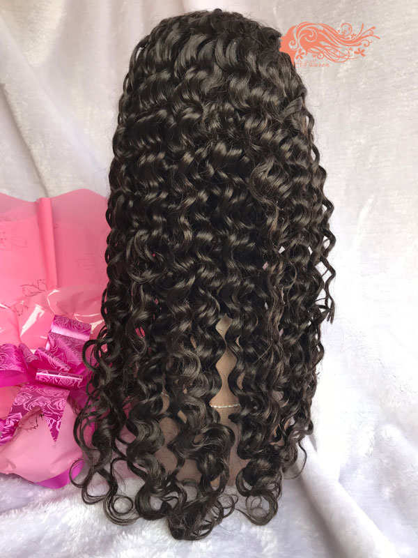 Csqueen 8A Deep Wave Full lace WIG 100% Virgin Hair Human hair 150%density