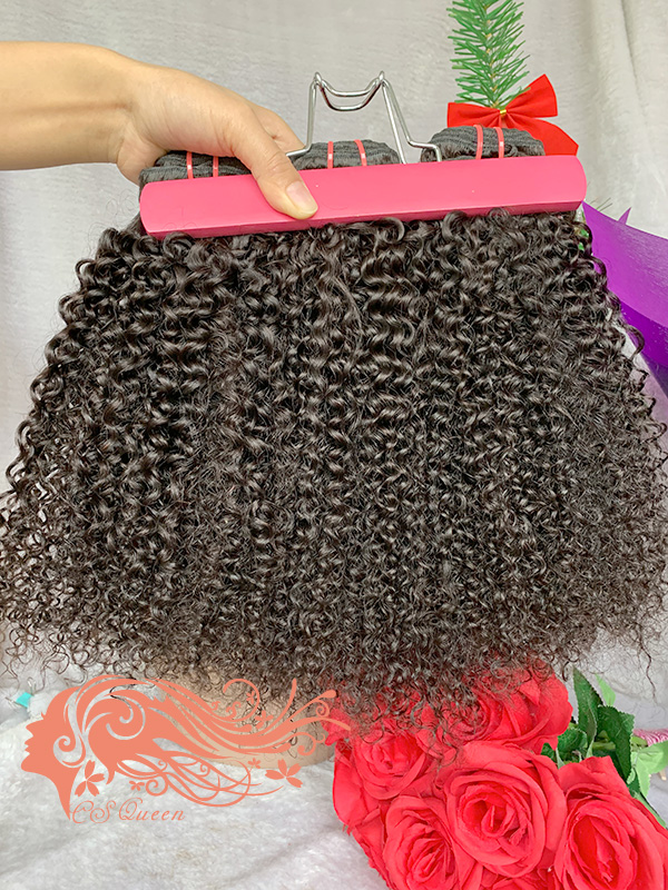 Csqueen 9A Afro Kinky Curly 4 Bundles 100% Human Hair Unprocessed Hair