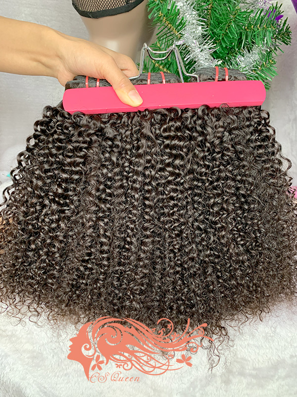 Csqueen 9A Afro Kinky Curly Virgin Hair Extensions Human Hair
