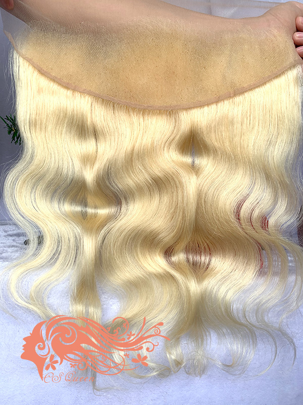 Csqueen 9A Body Wave 13*4 Frontal #613 Blonde color Free Part 100%Human Hair