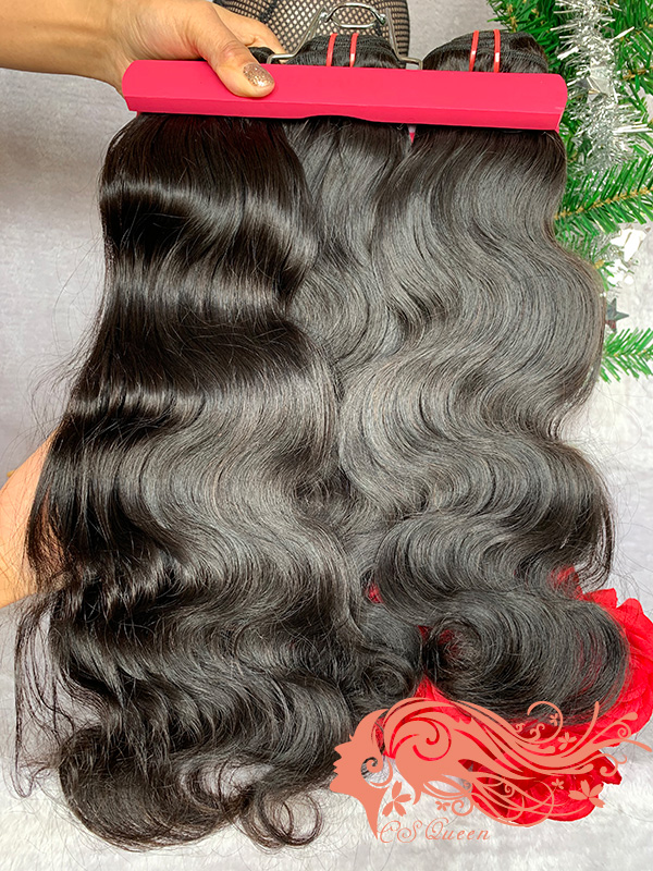 Csqueen 9A Body Wave 18 Bundles Natural Black Color 100% Human Hair