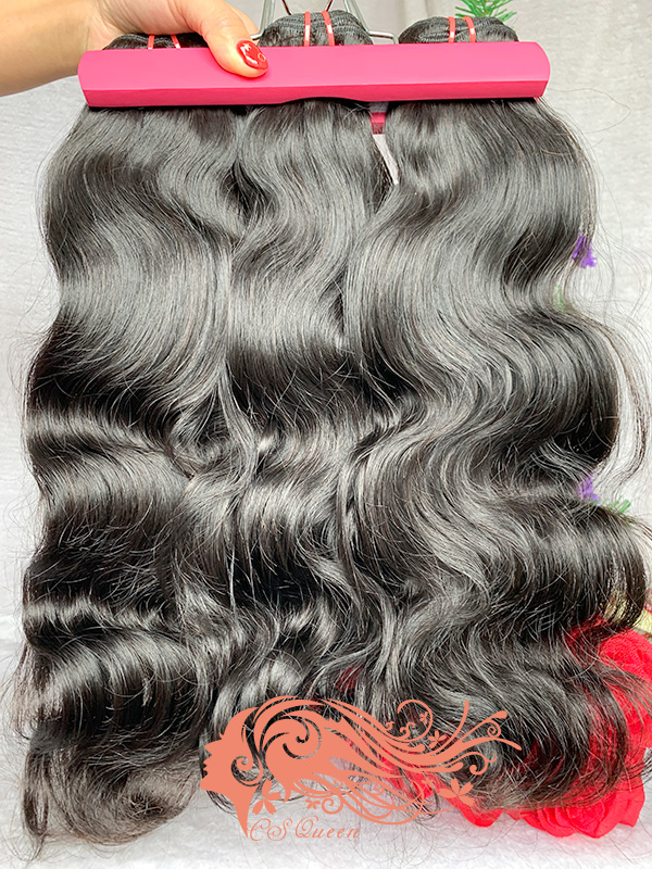 Csqueen 9A Body Wave 5 Bundles Natural Black Color 100% Human Hair
