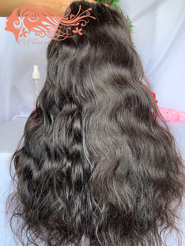 Csqueen 9A Body Wave 5*5 Transparent Lace Closure wig 100% human hair wigs 200%density