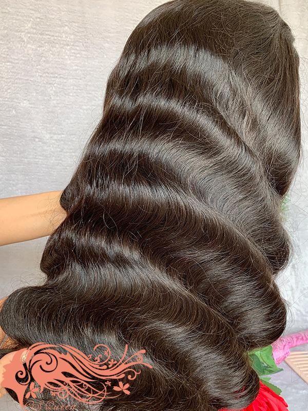 Csqueen 9A Body Wave Full lace WIG 100% Virgin Human Hair 200%density