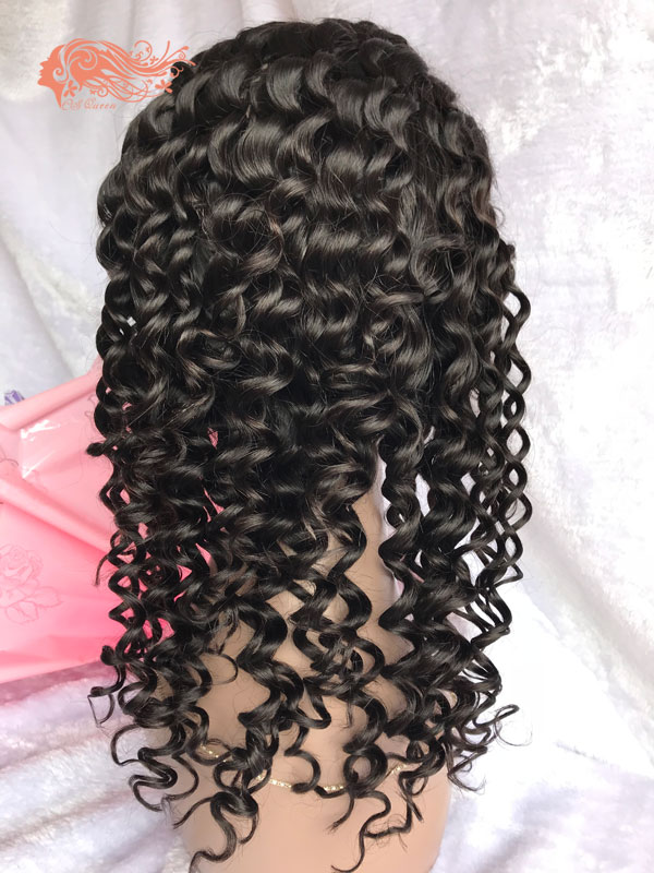 Csqueen 9A Deep Wave 360 WIG 100% Virgin Hair 150%density