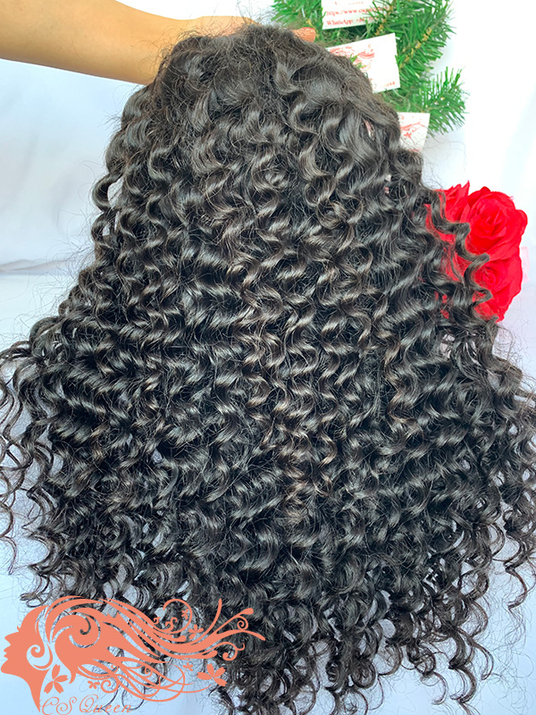 Csqueen 9A Deep Wave U part wig 100% human hair wigs 180%density