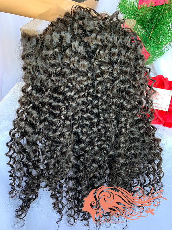 Csqueen 9A Deep Wave U part wig 100% human hair wigs 200%density