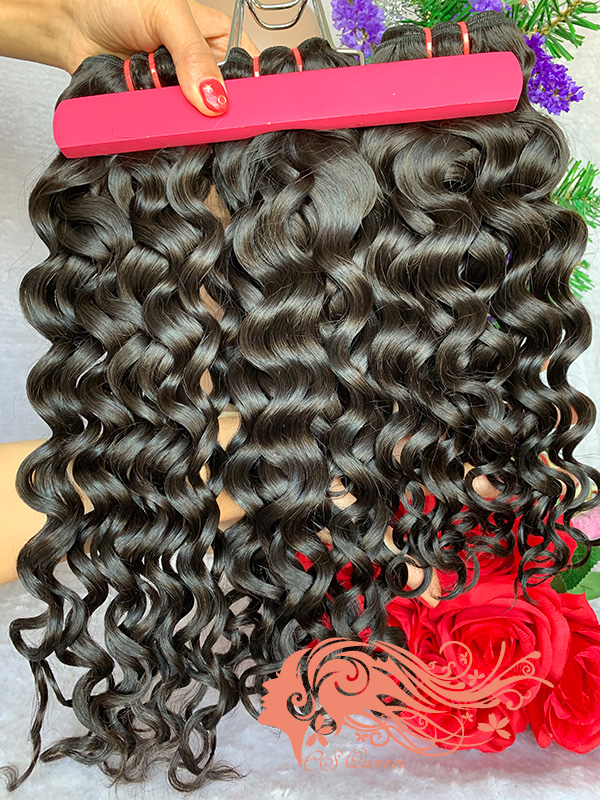 Csqueen 9A French Curly 18 Bundles 100% Human Hair Unprocessed Hair