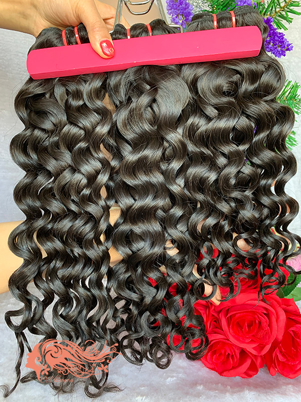 Csqueen 9A French Curly 3 Bundles 100% Human Hair Unprocessed Hair