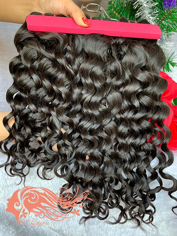 Csqueen 9A French Curly 5 Bundles 100% Human Hair Unprocessed Hair