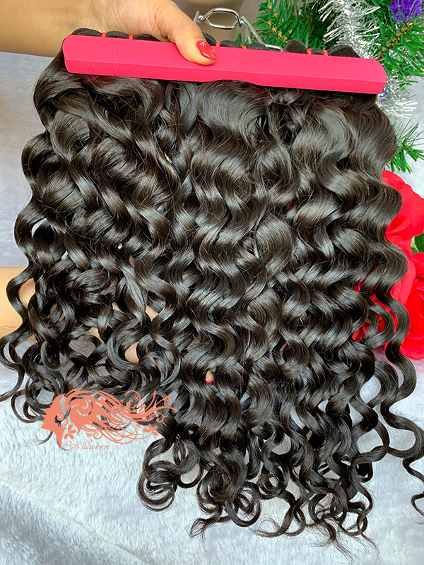 Csqueen 9A French curly brazilian hair 100% Human hair Virgin hair