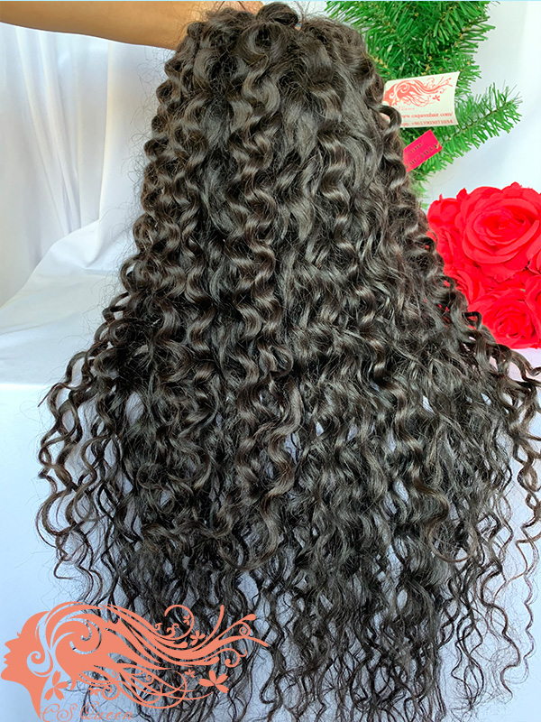Csqueen 9A French curly U part wig real hair wigs 150%density