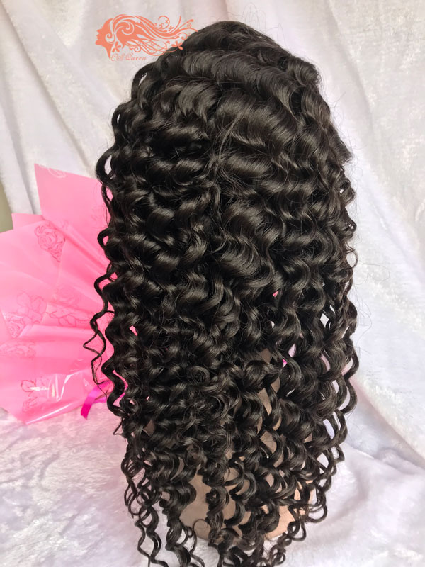 Csqueen Mink hair Italian Wave Full lace WIG 100% Virgin Human Hair 150%density