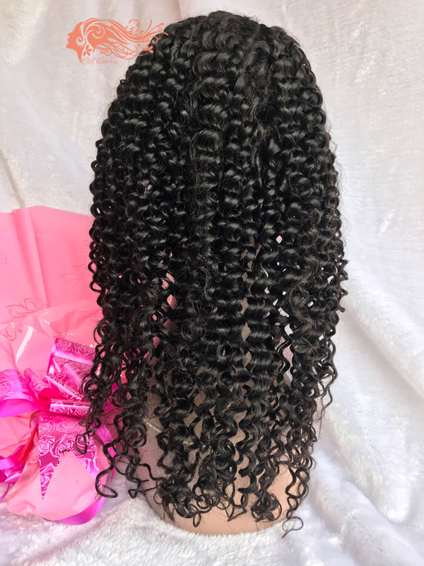 Csqueen Mink hair Jerry Curly Full lace WIG 100% Virgin Hair 150%density