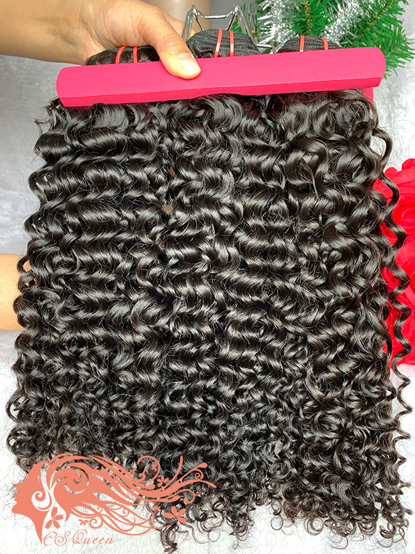 Csqueen 9A Jerry Curly Hair Weave 12 Bundles Unprocessed Virgin Human Hair
