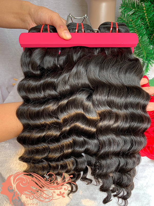 Csqueen 9A Loose Curly 10 Bundles 100% Human Hair Unprocessed Hair