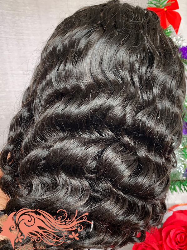 Csqueen 9A Loose Curly Full lace WIG 100% human hair wigs 200%density