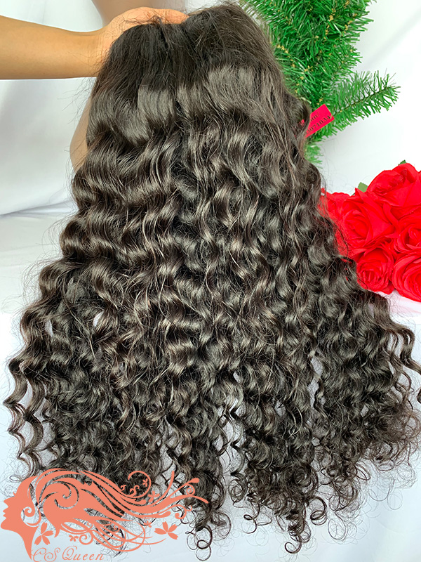 Csqueen 9A Loose Curly U part wig 100% human hair wigs 180%density