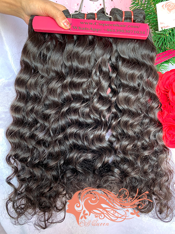Csqueen 9A Majestic Wave 3 Bundles with 13 * 4 Light Brown Lace Frontal Unprocessed hair