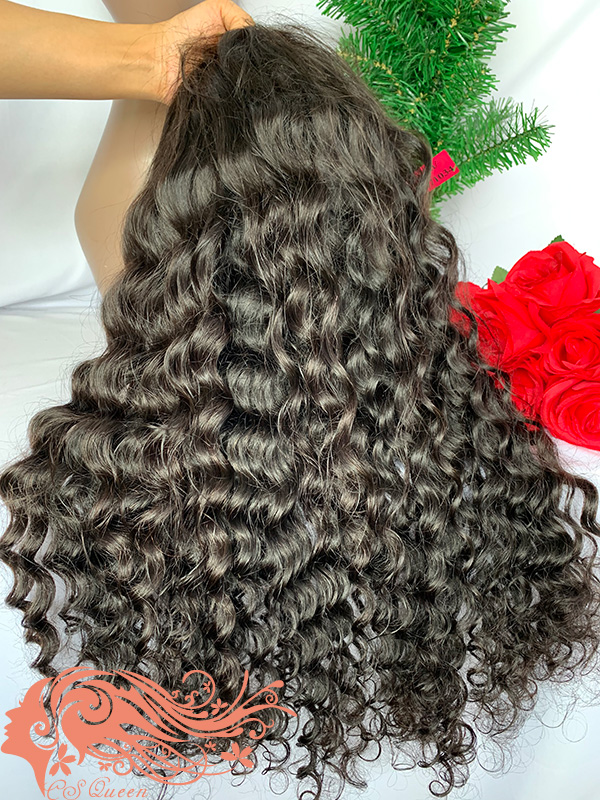 Csqueen 9A Majestic Wave U part wig real hair wigs 200%density