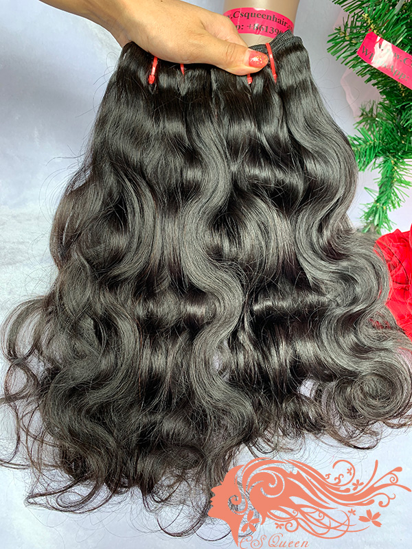 Csqueen 9A Ocean Wave 3 Bundles with 13 * 4 Light Brown Lace Frontal Unprocessed hair