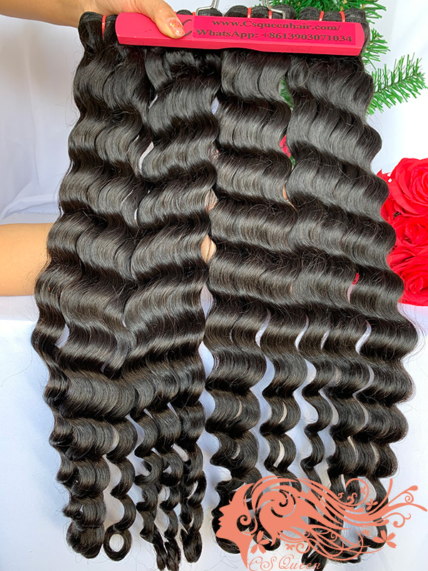 Csqueen 9A Paradise wave Hair Weave 3 Bundles Unprocessed Virgin Human Hair