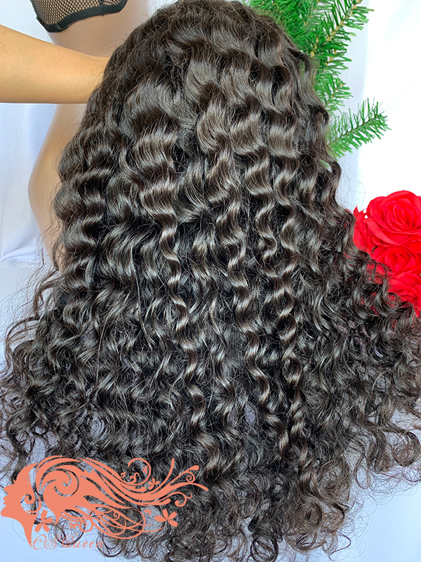 Csqueen 9A Paradise wave U part wig natural hair wigs 180%density