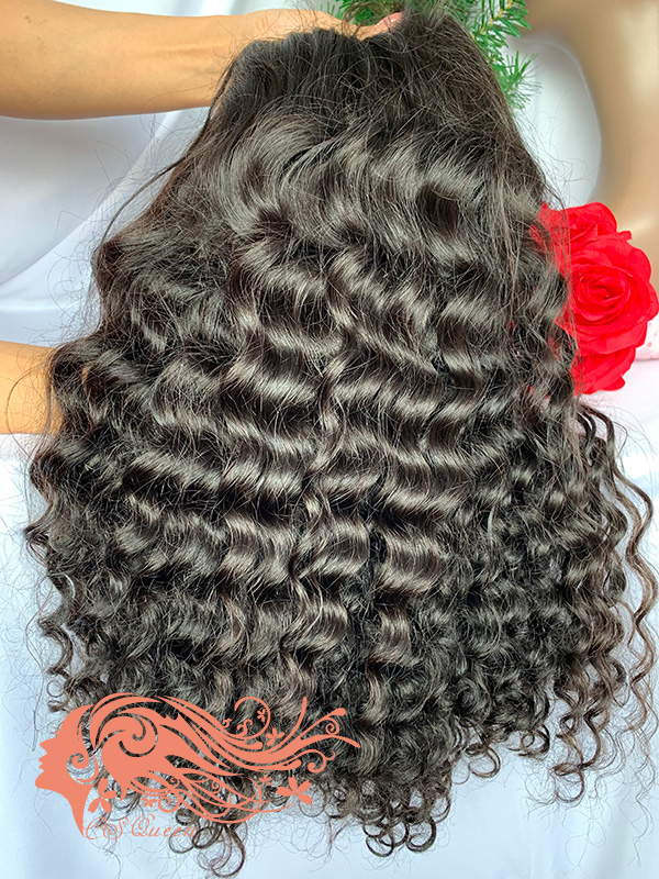Csqueen 9A Paradise wave U part wig natural hair wigs 200%density