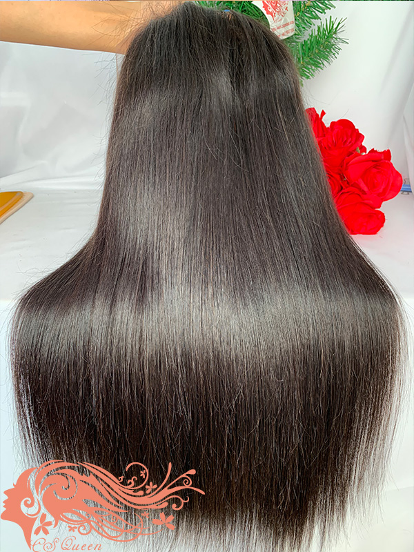 Csqueen 9A Straight U part wig natural hair wigs 180%density