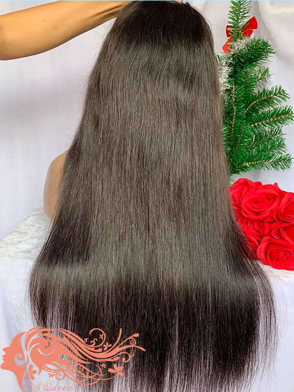 Csqueen 9A Straight U part wig natural hair wigs 150%density