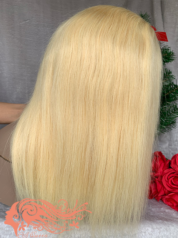 Csqueen 9A Straight hair 13*4 Frontal WIG #613 Blonde 100% Virgin Hair 180%density