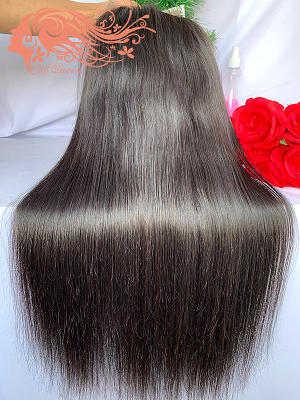 Csqueen 9A Straight hair 5*5 Transparent Lace Closure wig 100% human hair wigs 200%density